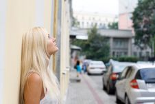 Free Thoughtful Girl Standing On Street Stock Photo - 20845980
