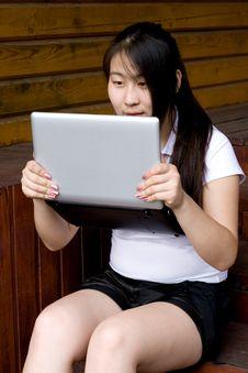 Free Girl Working On Laptop Stock Image - 20846011