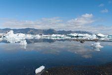 Jokulsarlon Lake In Iceland Royalty Free Stock Image