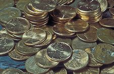 Free Money Coins Pennies Stock Image - 20846841