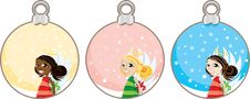 Free Christmas Angel Gift Tags Stock Photo - 20847390