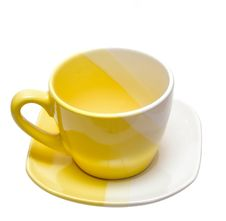 Yellow Tea Cup Stock Images