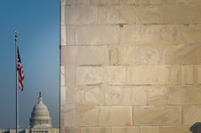 Free The Washington Monument And US Capitol Stock Images - 20848294