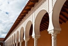 Free Pattern Of Covered Arcade In Spanish Style. Stock Images - 20848384