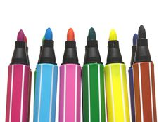 Free Color Felt-tip Pens Stock Photo - 20848390