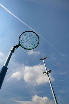 Free Netball Net With Floodlight Stock Photos - 20848663