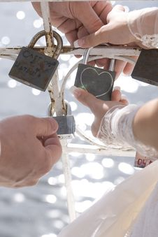 Free Wedding Ceremony With Padlock Royalty Free Stock Photography - 20849057