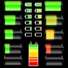Free Set Of Batteries Stock Images - 20849254