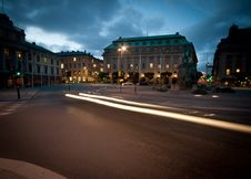 Stockholm By Night Royalty Free Stock Photo