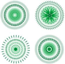 Free Set Of Guilloche Rosettes Certificate Or Diplomas Stock Photo - 20849680