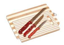 Kitchen Knifes On Board Royalty Free Stock Photo
