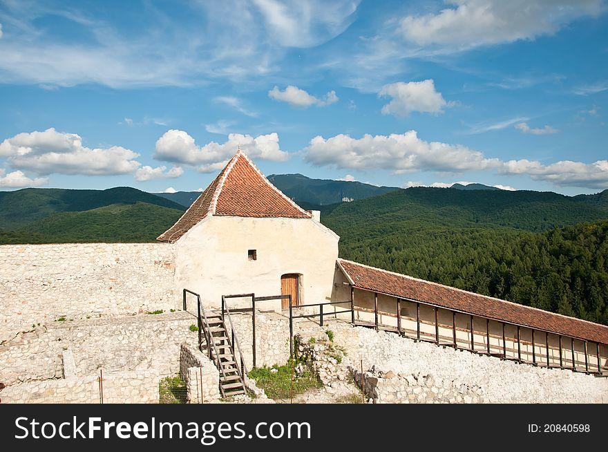 Defense walls, at an ancient village fortress