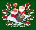 Free Cartoon Xmas Card Stock Photos - 20852613