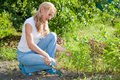 Free Young Woman In The Garden Royalty Free Stock Photography - 20855107
