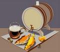 Free Natural Draft Beer Royalty Free Stock Photography - 20856247