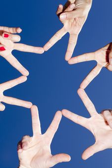 Free Star From Hands Royalty Free Stock Photography - 20850187