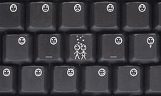 Computer Keyboard Smilies Stock Image