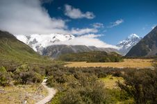 Free Mountain Scape Of Mt. Cook, New Zealand Royalty Free Stock Images - 20850309
