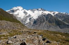 Free Mountain Scape Of Mt. Cook, New Zealand Stock Image - 20850411