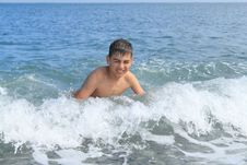 Free Boy In The Sea Stock Photo - 20850880