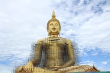 A Building Buddha Is Culture. Stock Photo