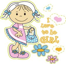 Free I Love To Be Girl Stock Photos - 20852313