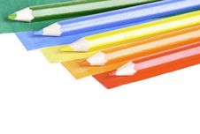 Free Colored Papers And Crayons Royalty Free Stock Photo - 20853665
