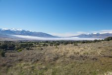 Fog Over Valley At Gredos Stock Photo