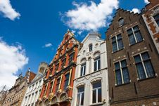Flemish Houses In Brugge, Belgium Royalty Free Stock Photography