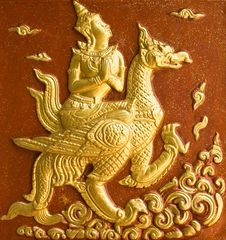 Traditional Thai Style Molding Art. Stock Photos