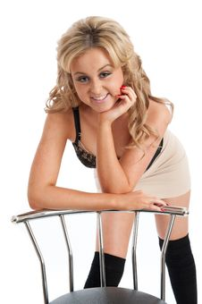 Free Pretty Blonde Female Posing Royalty Free Stock Photography - 20855207