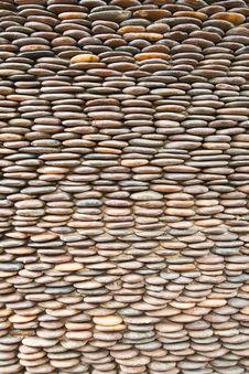 Free Close Up Of Circle Pebble Wall Stock Image - 20855341