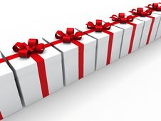 Free 3d Red Gift Box Royalty Free Stock Photography - 20855527