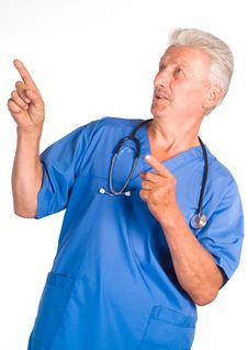 Free Doctor On White Royalty Free Stock Photography - 20855627