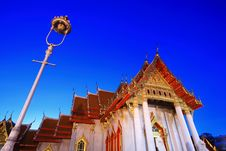 Free Marble Temple In Bangkok Thailand At Twilight Stock Images - 20855734