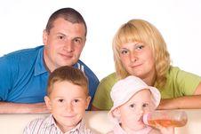 Free Cute Family Portrait Royalty Free Stock Photo - 20855735
