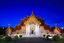 Free Marble Temple  Bangkok Thailand Royalty Free Stock Image - 20855756