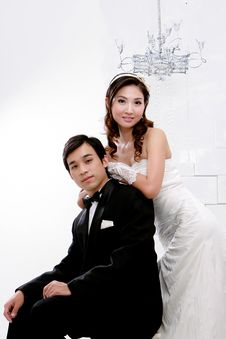 Free Portrait Of Young Bride And Groom Stock Photography - 20855802