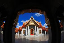 Free Marble Temple In Bangkok Thailand Blue Sky Royalty Free Stock Photo - 20855815