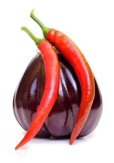 Free Eggplant And Red Peppers Royalty Free Stock Photo - 20856235