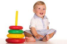 Free Little Boy On White Royalty Free Stock Photo - 20856385