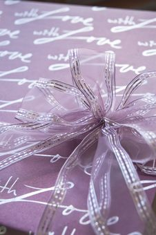 Violet Gift Box Royalty Free Stock Photography