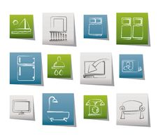 Free Hotel And Motel Room Facilities Icons Stock Photography - 20857502