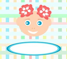 Smiling Cute Baby Girl With Abstract Bakground Stock Images