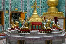 Free Budha Staues In Burmese Pagoda Royalty Free Stock Image - 20858076