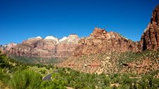 Free Road Winds Through Zion National Park Stock Photography - 20858582