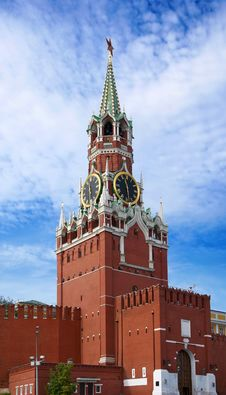 Free The Saviour Tower. Kremlin In Moscow. Royalty Free Stock Images - 20859759