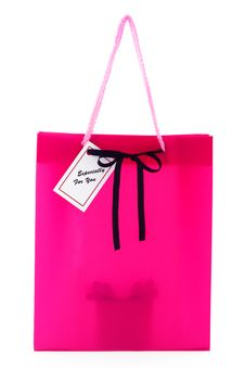 Free Gift Bag With Present, Isolated Stock Photos - 20859803