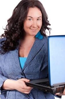 Young Business Woman On A Laptop Royalty Free Stock Image