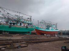 Traditional Fisherman Ship, Jakarta, Indonesia - 2021 Stock Photography